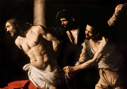 Caravaggio, Michelangelo Merisi da: Christ at the Column. Fine Art Print.  (00116)
